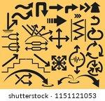 vector arrows set collection | Shutterstock .eps vector #1151121053