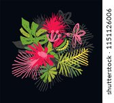 tropical flower composition ... | Shutterstock .eps vector #1151126006