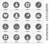 drug icons set. collection of... | Shutterstock .eps vector #1151128490