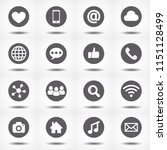social media icons with reflect ... | Shutterstock .eps vector #1151128499