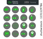 electric car and vehicle green... | Shutterstock .eps vector #1151129786