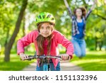 happy mother rejoices that her... | Shutterstock . vector #1151132396