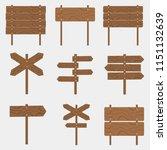 wooden signboards  wood arrow... | Shutterstock .eps vector #1151132639