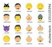 set of 16 icons such as baby... | Shutterstock .eps vector #1151135396