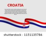 waving flag of croatia  vector... | Shutterstock .eps vector #1151135786