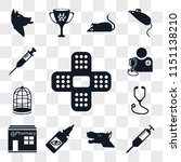 set of 13 simple editable icons ... | Shutterstock .eps vector #1151138210