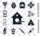 set of 13 simple editable icons ... | Shutterstock .eps vector #1151138303