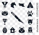 set of 13 simple editable icons ... | Shutterstock .eps vector #1151140250