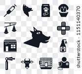 set of 13 simple editable icons ... | Shutterstock .eps vector #1151140370