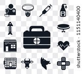set of 13 simple editable icons ... | Shutterstock .eps vector #1151140400