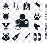 set of 13 simple editable icons ... | Shutterstock .eps vector #1151140409