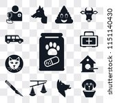 set of 13 simple editable icons ... | Shutterstock .eps vector #1151140430
