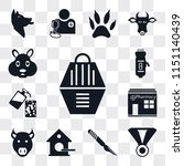 set of 13 simple editable icons ... | Shutterstock .eps vector #1151140439