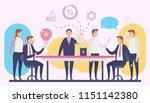 illustration of business team... | Shutterstock .eps vector #1151142380
