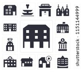 set of 13 simple editable icons ... | Shutterstock .eps vector #1151144999