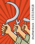 vector illustration of fists... | Shutterstock .eps vector #115114618
