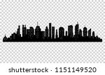 silhouette of city with black... | Shutterstock .eps vector #1151149520
