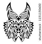beautiful abstract animal head... | Shutterstock .eps vector #1151150600