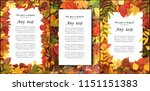 Seasonal Autumn Background Of...