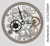 mechanical steampunk vintage... | Shutterstock .eps vector #1151153069