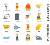 set of 16 icons such as iron ... | Shutterstock .eps vector #1151153906