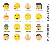 set of 16 icons such as sca... | Shutterstock .eps vector #1151154050
