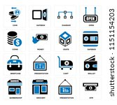 set of 16 icons such as atm ...