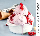 tasty berry ice cream in a... | Shutterstock . vector #1151154383