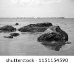 sea  rocks  bridge in the... | Shutterstock . vector #1151154590