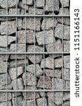 gabion fence clouse up. texture ... | Shutterstock . vector #1151166143