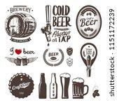 good craft beer brewery labels  ... | Shutterstock .eps vector #1151172239