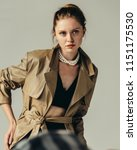 femme fatale. portait of a... | Shutterstock . vector #1151175530