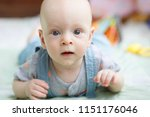infant portrait emotions | Shutterstock . vector #1151176046