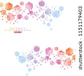 hexagonal abstract background.... | Shutterstock .eps vector #1151179403