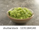 Small photo of mushy peas in dish