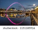 looking across the river tyne... | Shutterstock . vector #1151185916