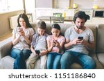 concentrated members of family... | Shutterstock . vector #1151186840