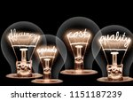 photo of light bulb group with... | Shutterstock . vector #1151187239