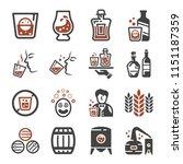 whisky liquor icon set   Shutterstock .eps vector #1151187359