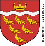 coat of arms of east sussex is... | Shutterstock .eps vector #1151187686