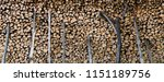 pile of wood logs ready for... | Shutterstock . vector #1151189756