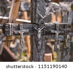 the crucifixion of chris at the ... | Shutterstock . vector #1151190140