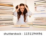 attractive young woman student... | Shutterstock . vector #1151194496
