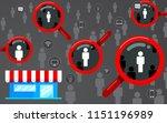 target audience  focus customer.... | Shutterstock .eps vector #1151196989