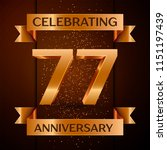 realistic seventy seven years...   Shutterstock .eps vector #1151197439