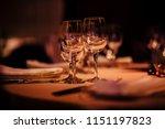 luxury table settings for fine... | Shutterstock . vector #1151197823