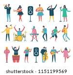 vector background in a flat... | Shutterstock .eps vector #1151199569