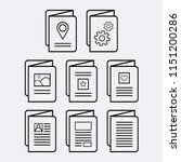 set of eight  8  vector icons... | Shutterstock .eps vector #1151200286