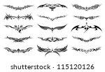 set of 15 tribal tattoo for... | Shutterstock .eps vector #115120126