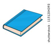 blue book. doodle style... | Shutterstock .eps vector #1151204393